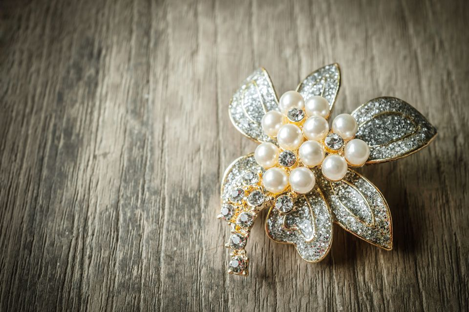 Close Up Of Non-Vintage Brooch