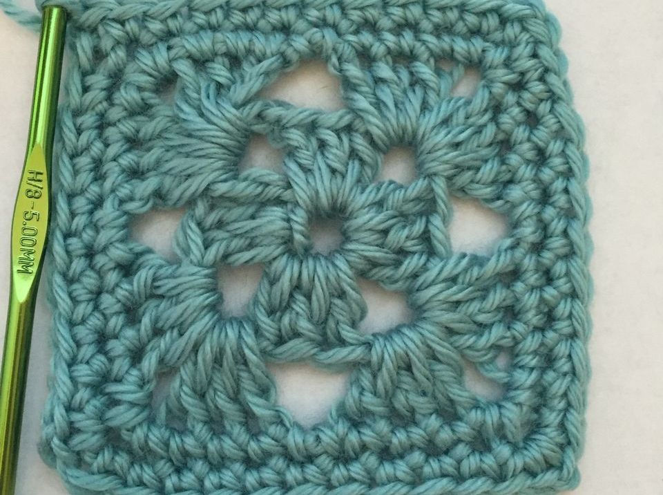 Four Round Granny Square Free Crochet Pattern