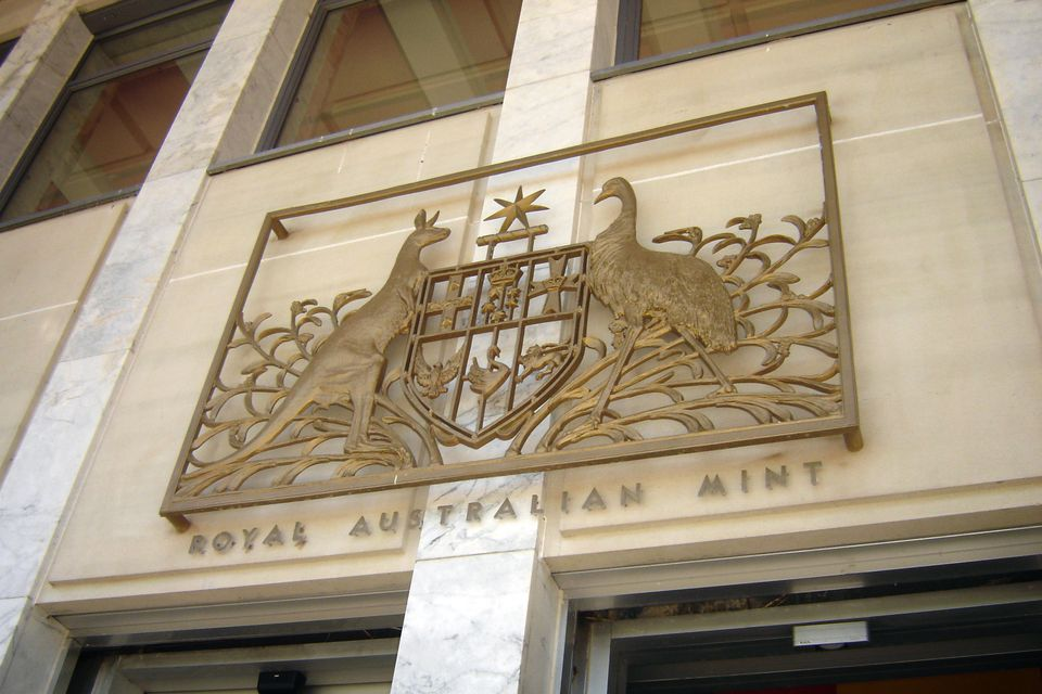 entrance way to the Royal Australian mint