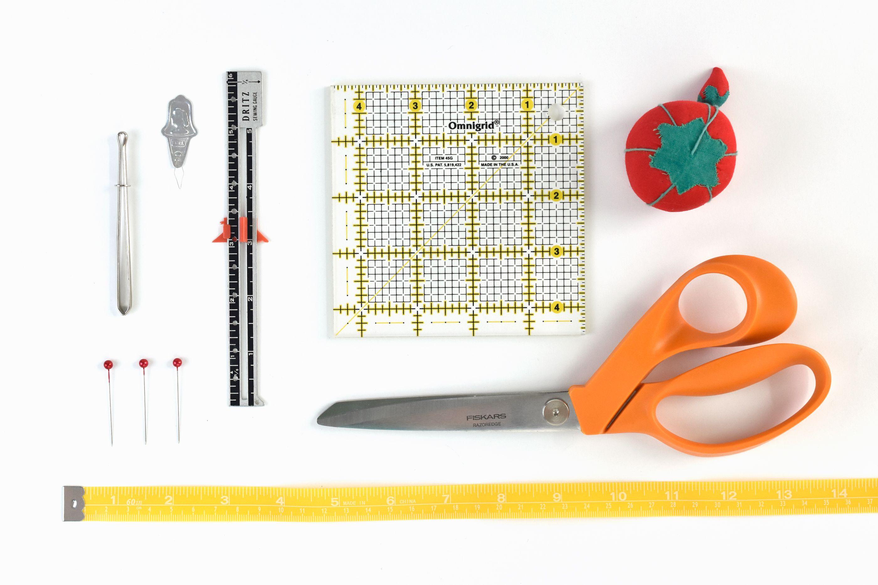 3 Styles 3 Pieces Sliding Gauge Sewing Measuring Tool Metal Sewing Gauge Fabric Quilting Ruler Seam Measuring Gauge for DIY Fabric Crafts Quilting Knitting Sewing Hemming Measuring Supplies