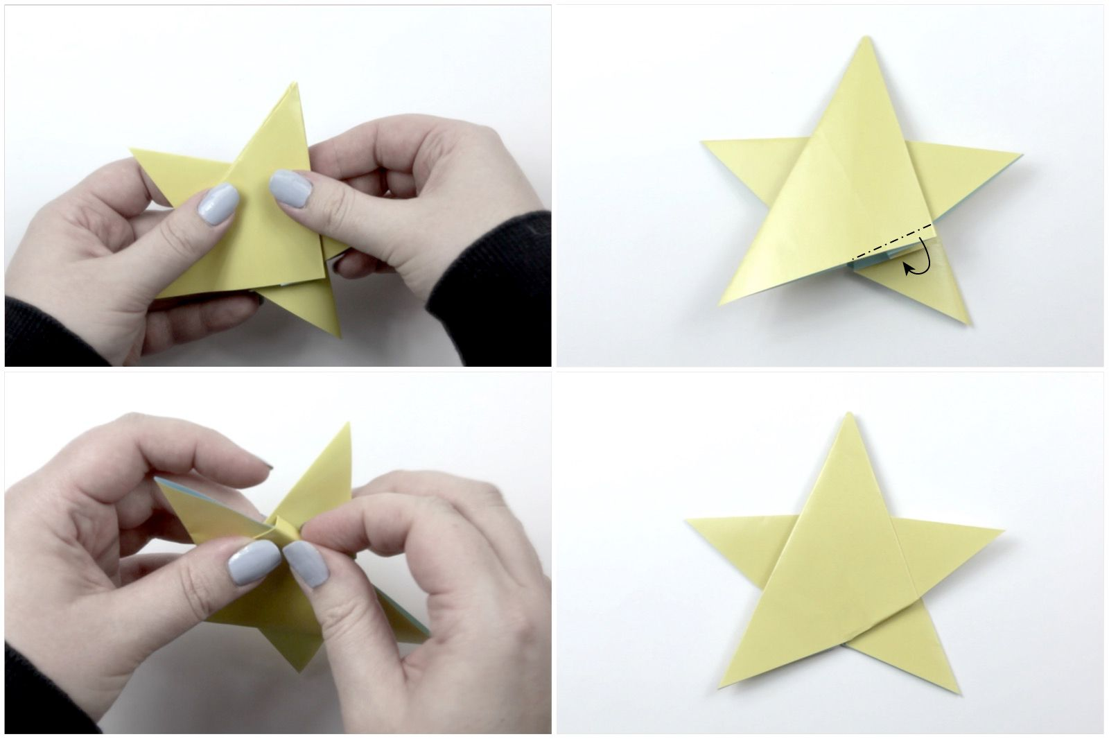 easy origami star tutorial 06