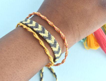 Easy DIY Friendship Bracelets on a Girl's Wrist