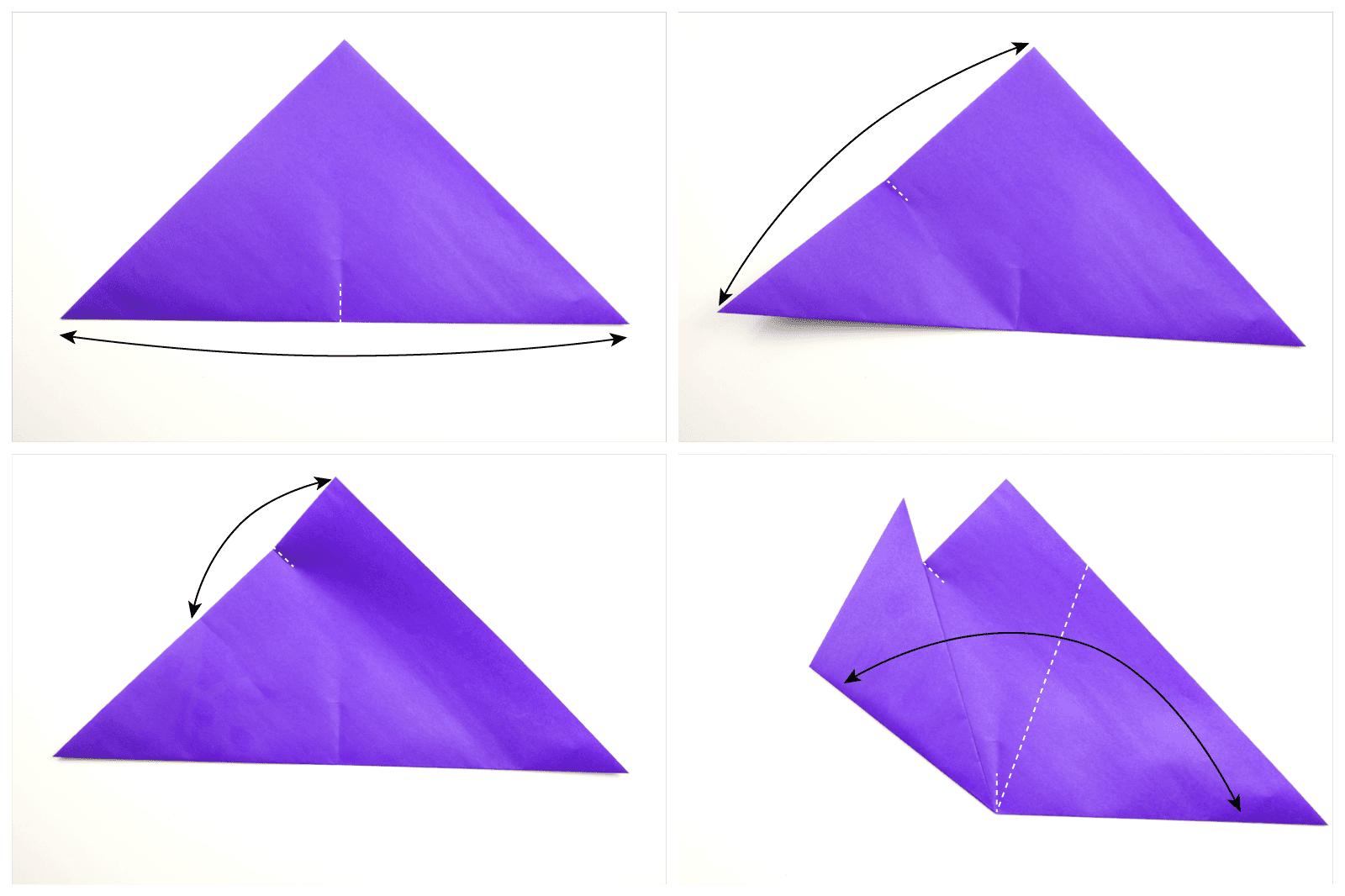 Folding paper into pentagon