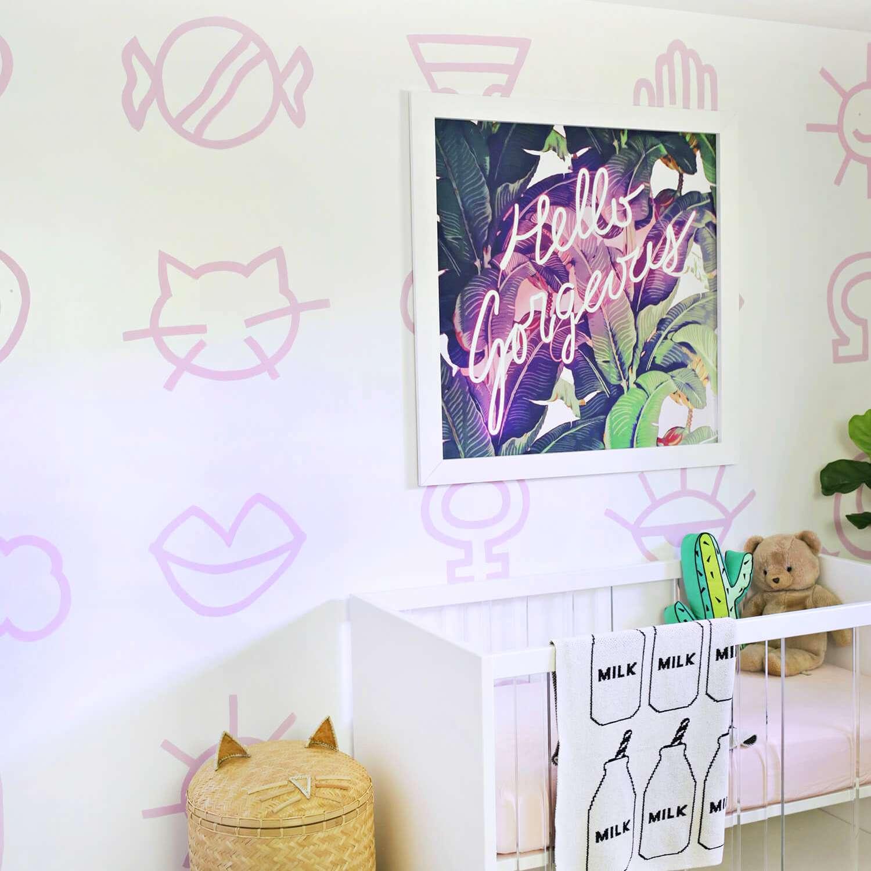 DIY Painted Wallpaper