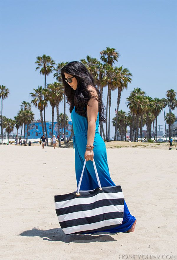 DIY No-Sew Beach Tote Bag