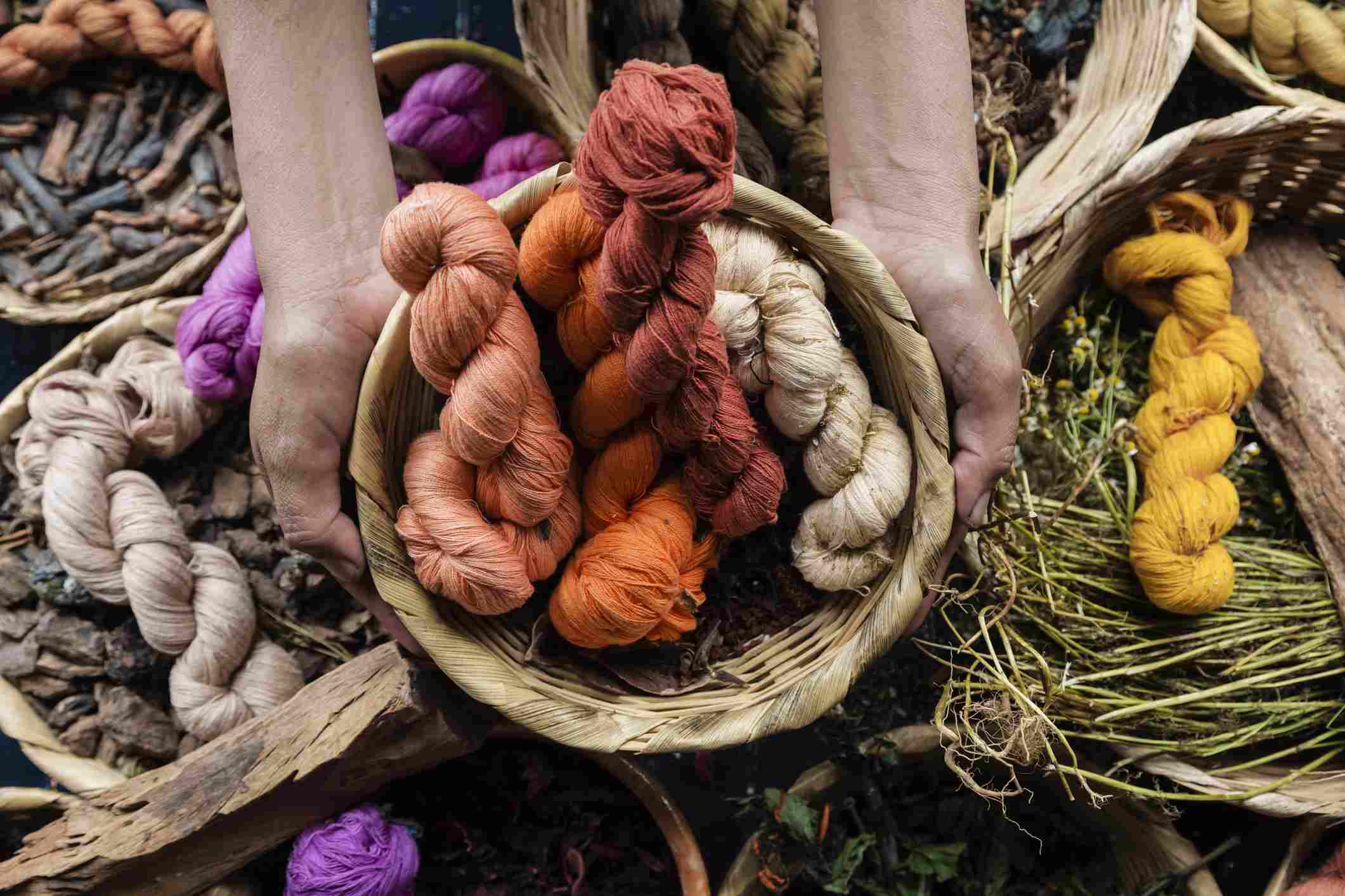 Organic Hand Dyed Cotton Yarn