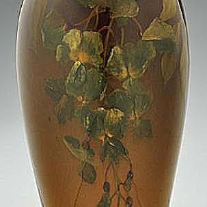 Rookwood Wisteria Vase Decorated by Irene Bishop in 1911
