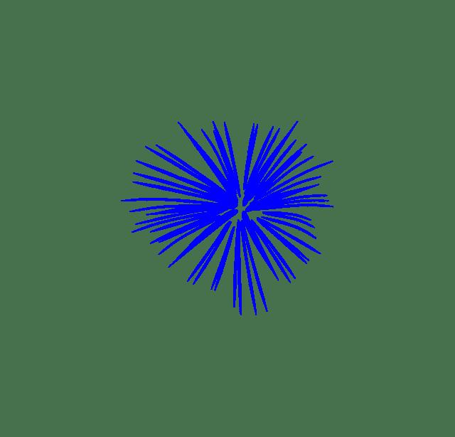 A blue firework