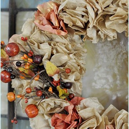 DIY Fall Wreath with Coffee Filters