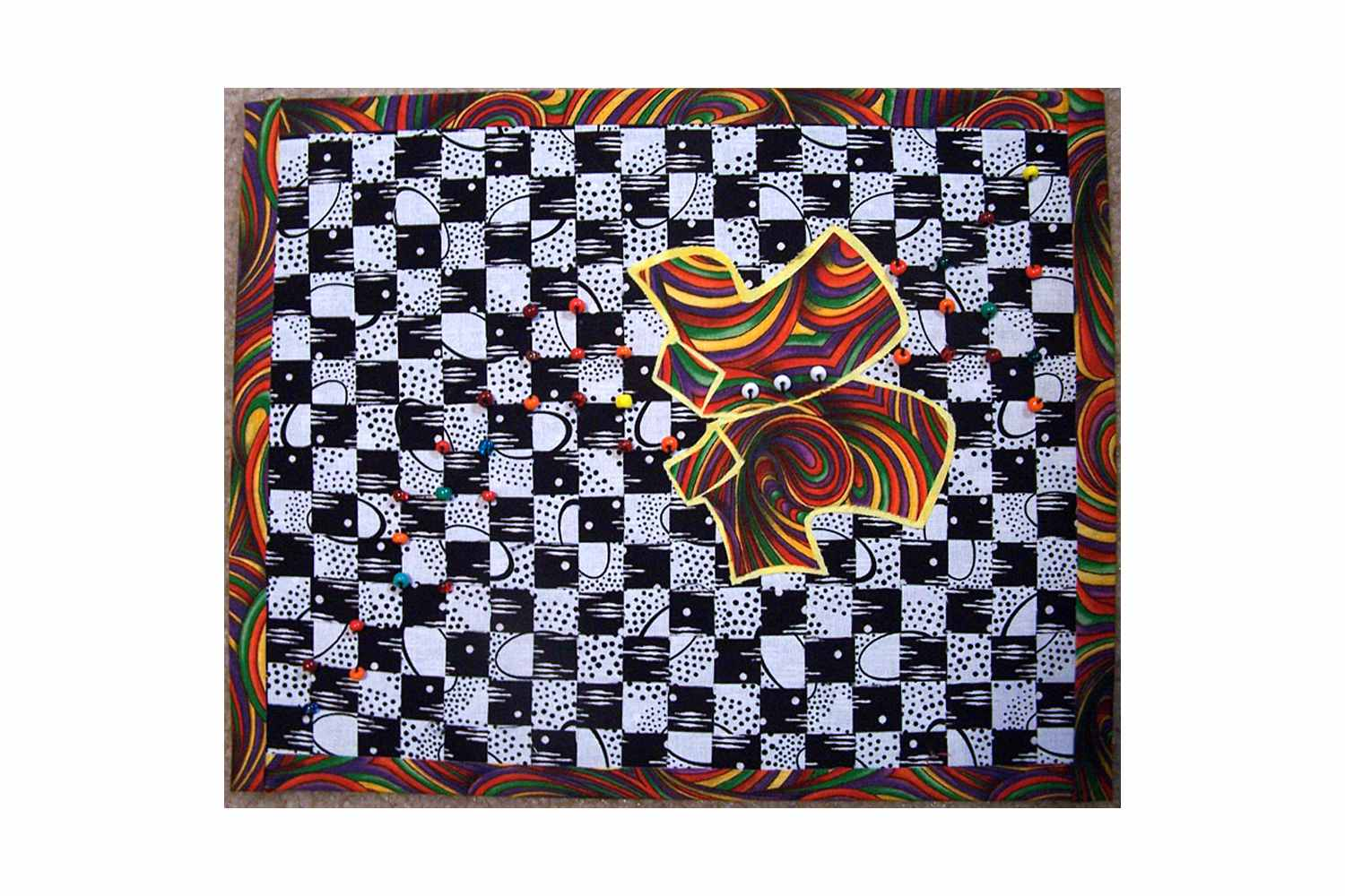 Art Quilt Inspired by Tacky the Penguin