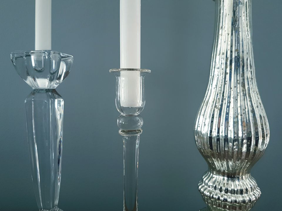 Close-up of candle holders
