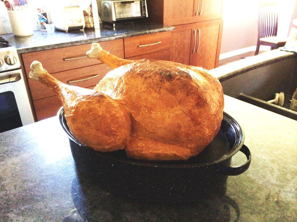 paper mache turkey