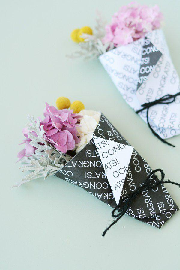 DIY Mini Graduation Bouquet