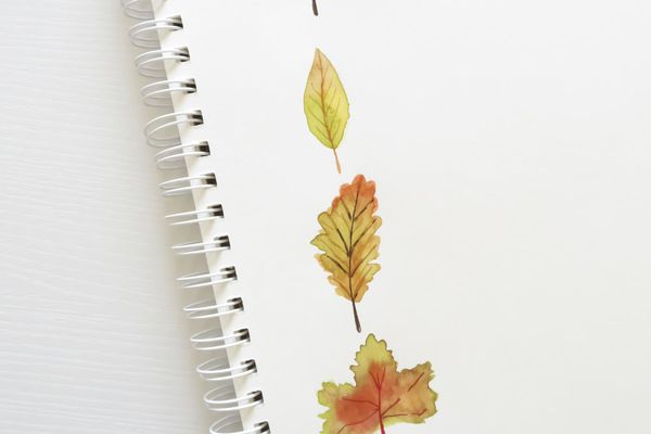 painting of fall leaves