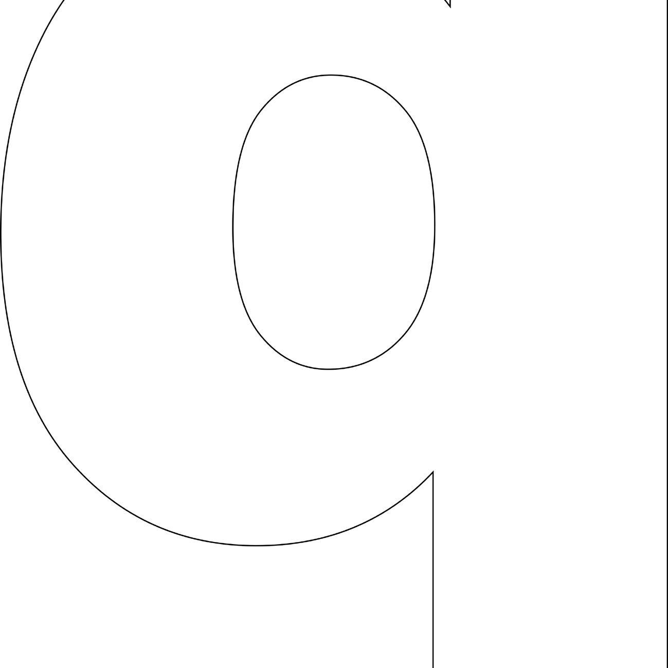 Free Printable 'q' Template
