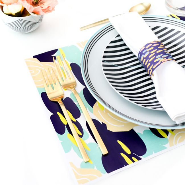 DIY Patterned Napkin Rings