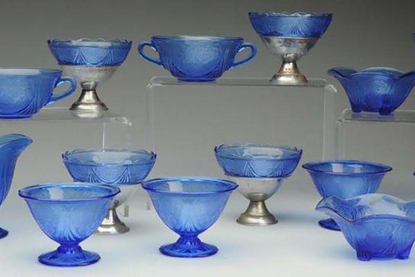 Blue Depression Glass