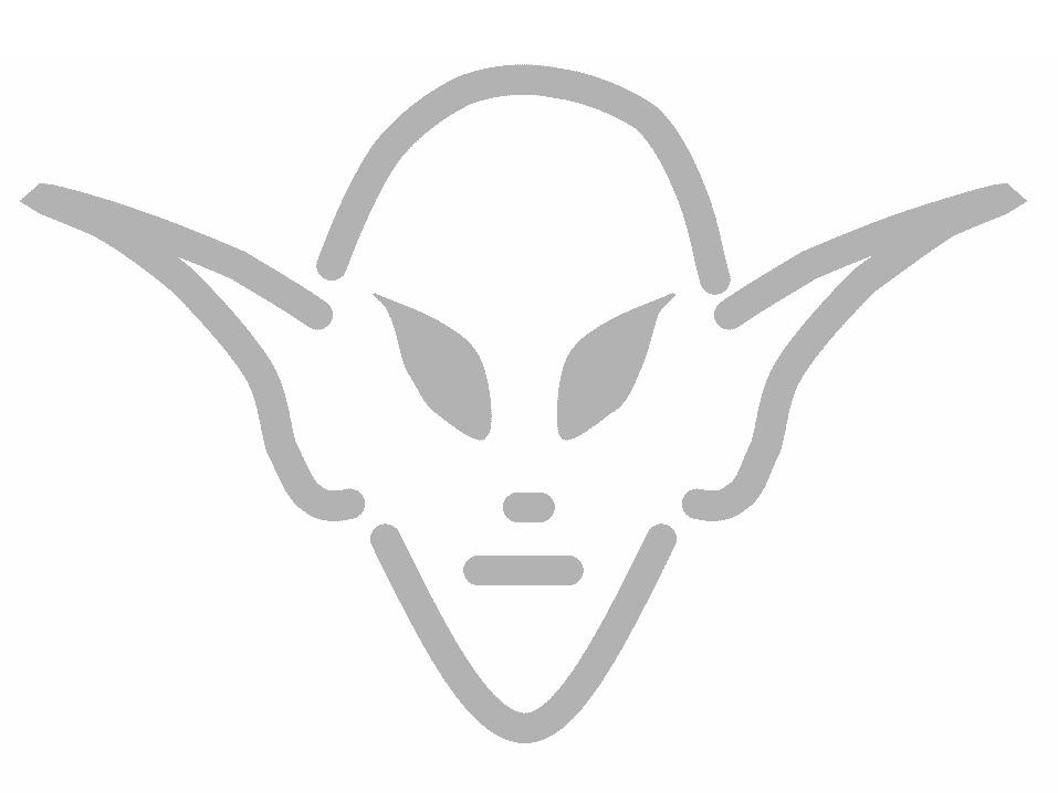 Screenshot of an alien pumpkin carving pattern