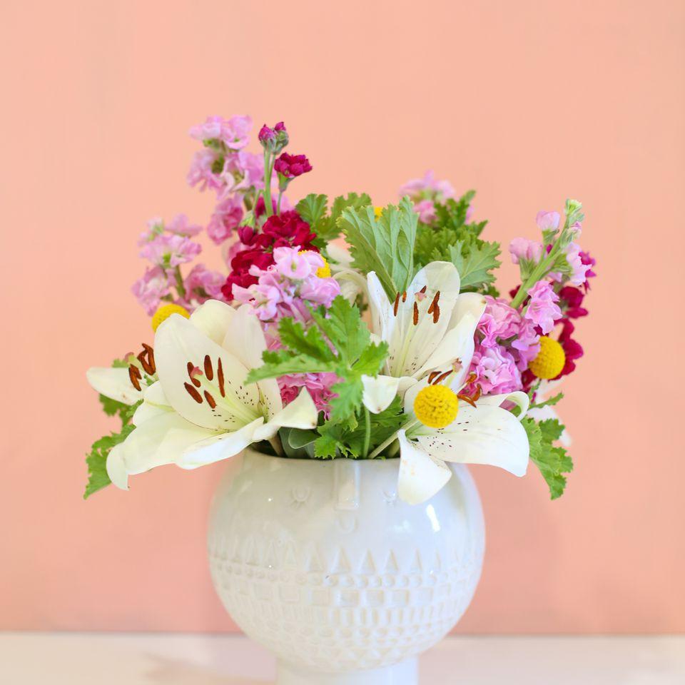 small flower arrangement