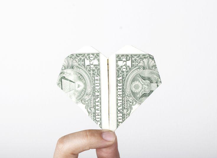 Origami diamond money ring (moneygami) - YouTube | 535x735