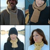 Crocheted Scarves Designed by Amy Solovay.