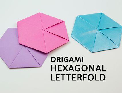 origami hexagonal letterfold tutorial 01