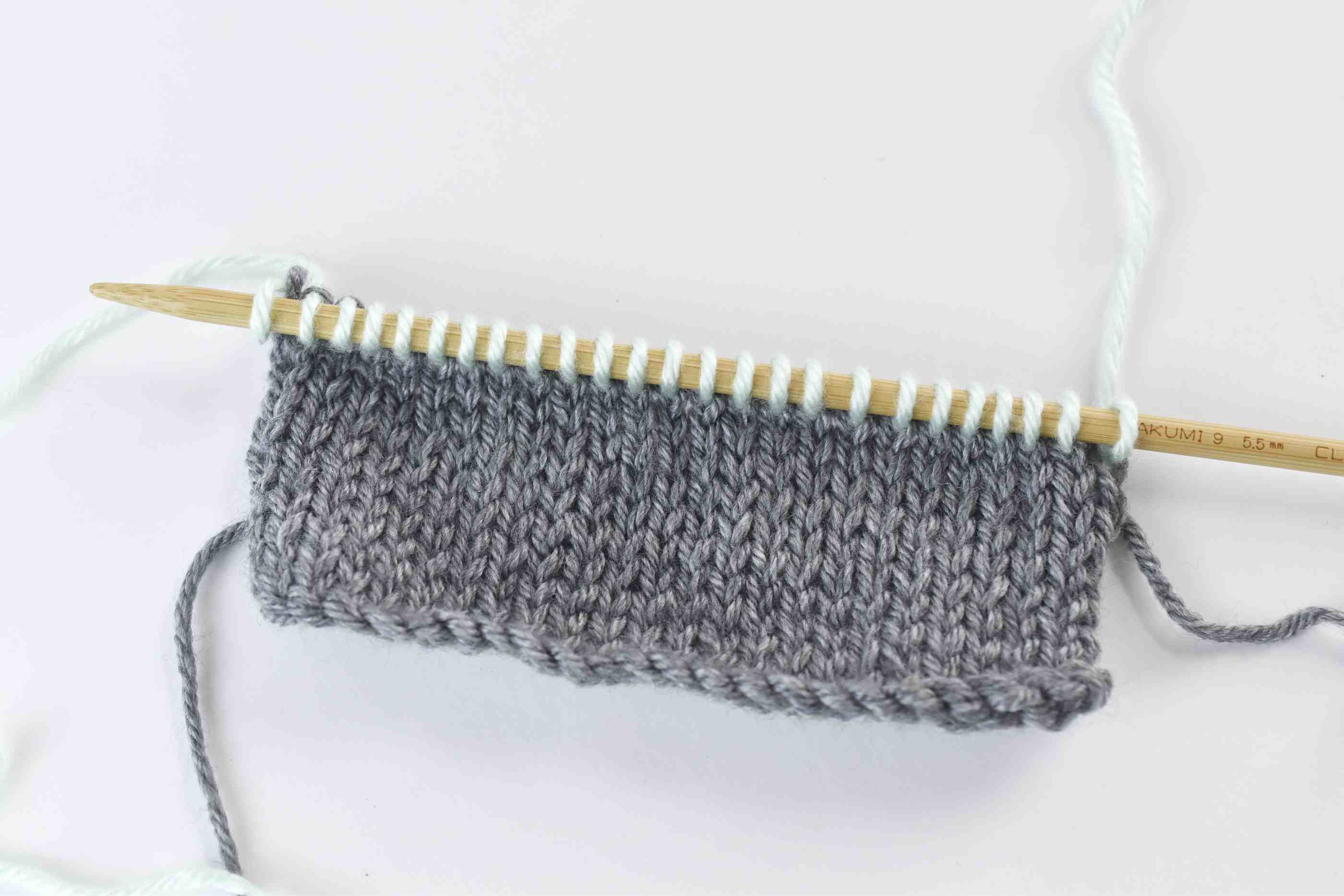 Knit the Row With the New Color