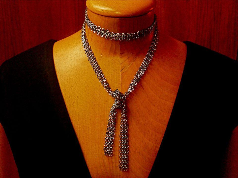 Mesh Lariat necklace