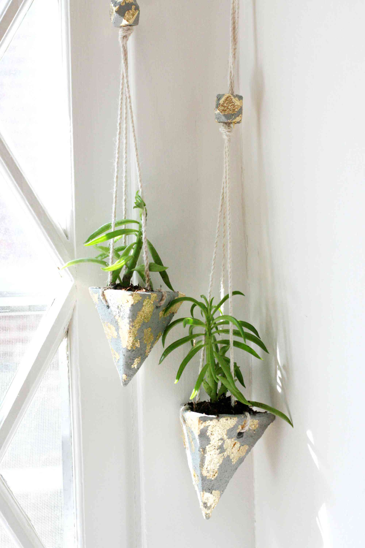 hanging cement planter