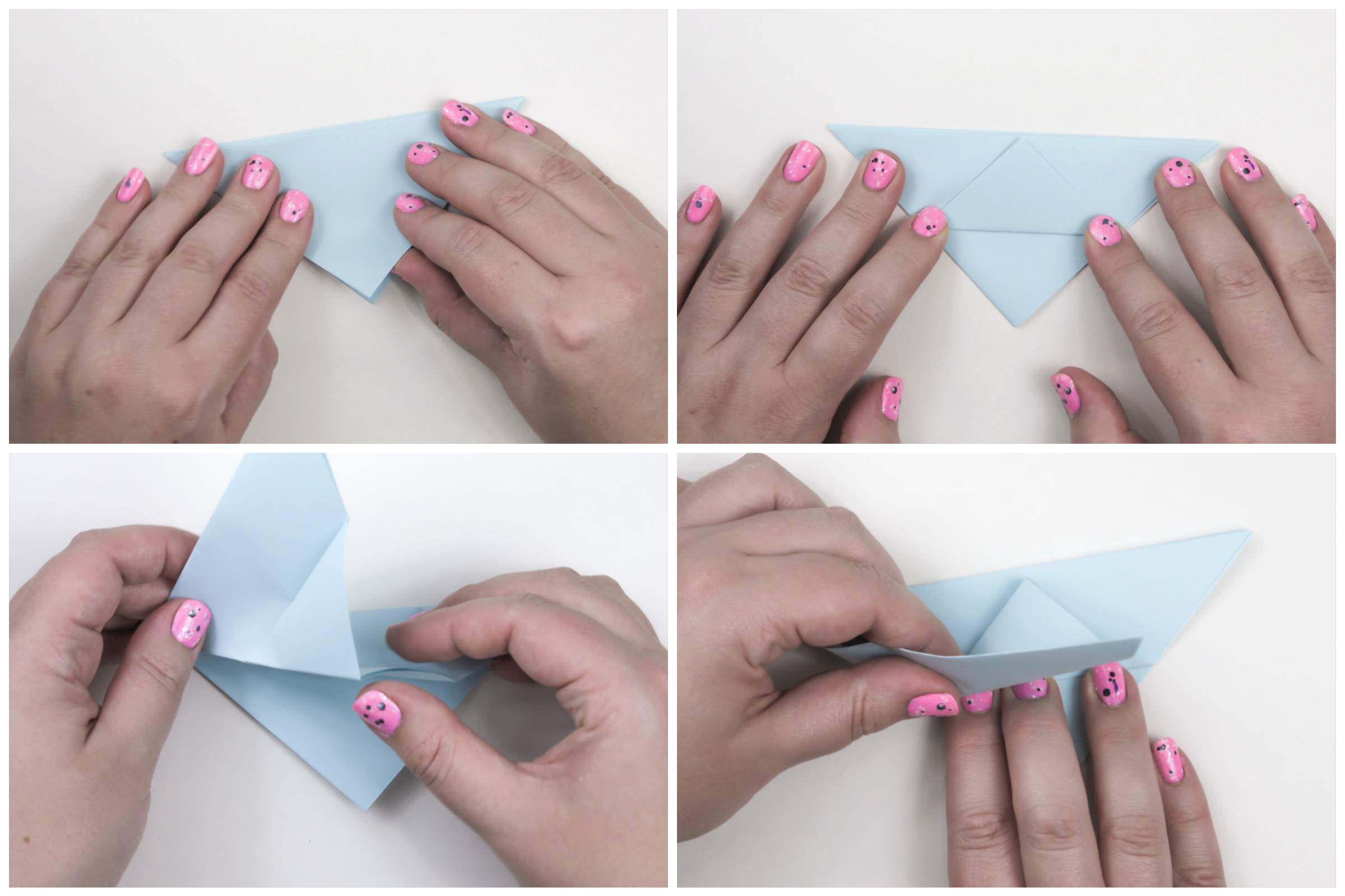 Folds for the body of the origami peace dove