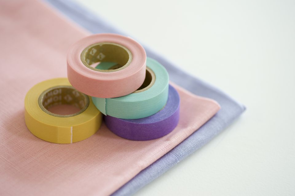 Masking tape and cloth