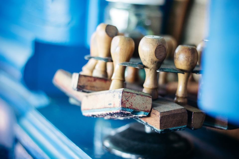 Old Wood Rubber Stamps