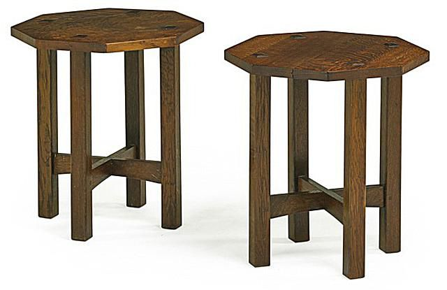 Pair of Tabouret by L&GJ Stickley, c. 1912. - Prices4Antiques.com - 5 Types Of Decorative Antiques You Cannot Name