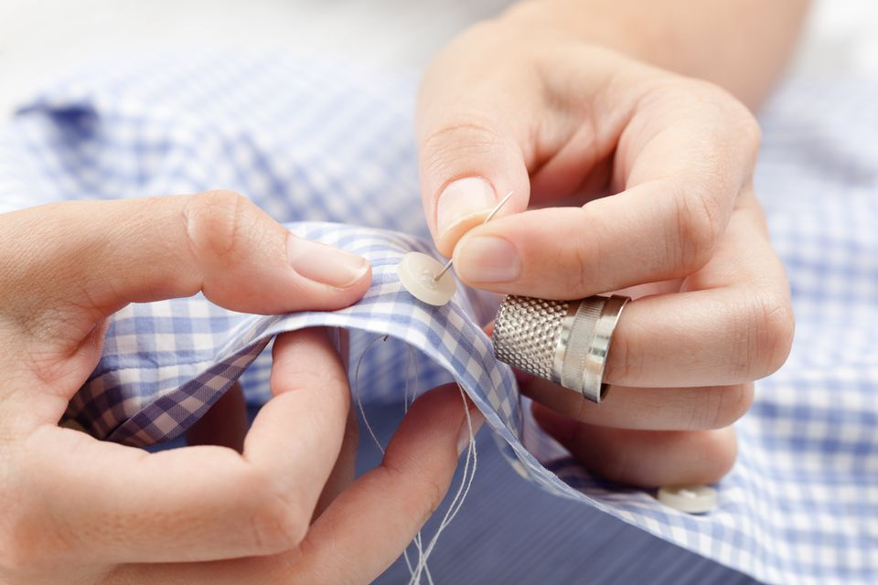 Sewing a button