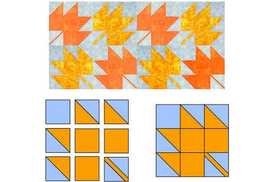 Easy Maple Leaf Quilt Block Pattern