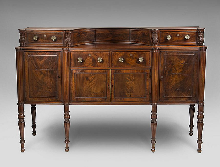 Early 19th century Boston Sheraton sideboard - How To Identify Sheraton Style Antique Furniture