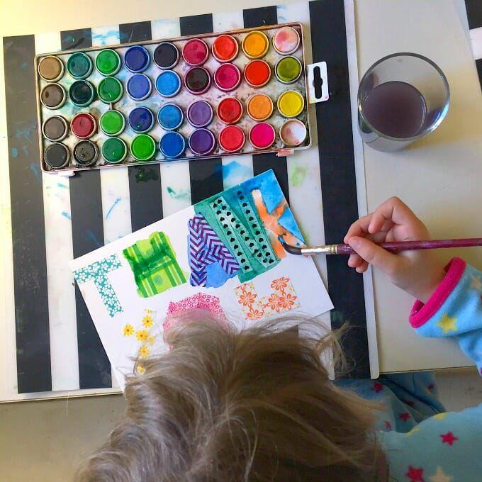 Washi and Watercolor Card