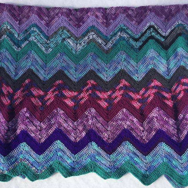 Wave Scrap Blanket Crochet Pattern