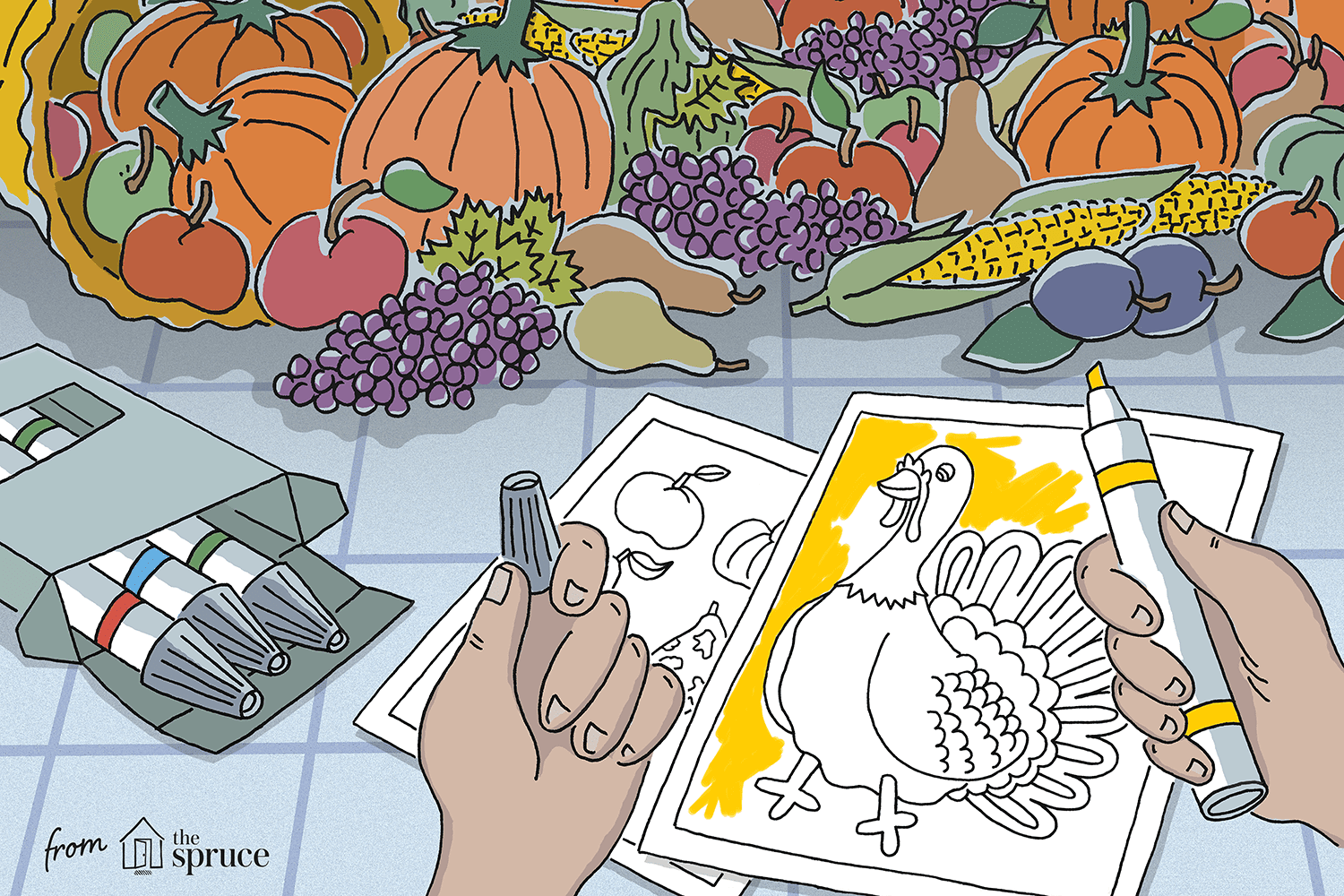 Thanksgiving Coloring Pages To Print For Free - Coloring Home | 1000x1500