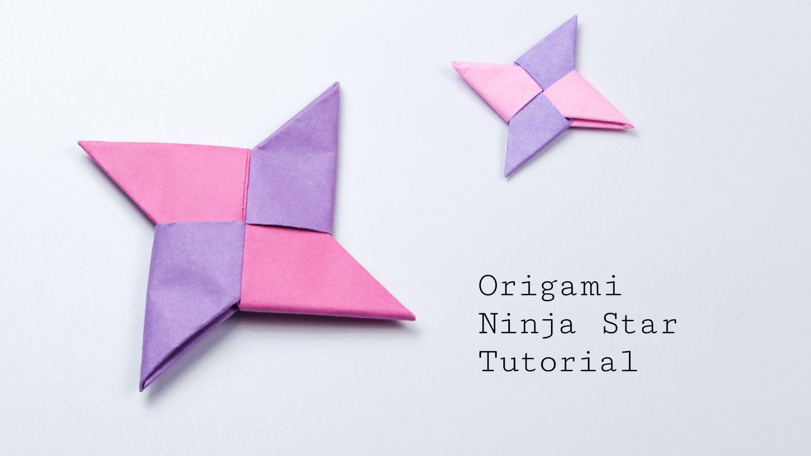 Top 06 Easy Origami Ninja Star/sword/gun - How to make - YouTube | 900x1600