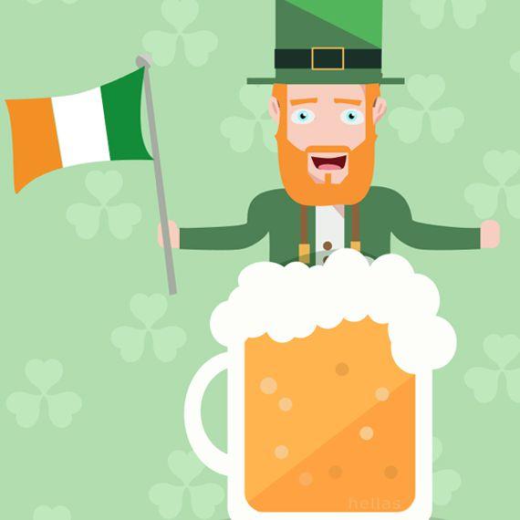 A Leprechaun in a beer