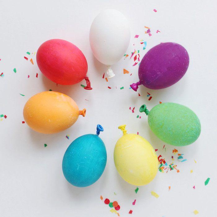 DIY Balloon Easter Eggs