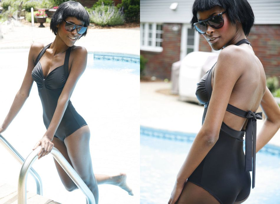 Alison Retro-Style One-Piece Swimsuit Pattern