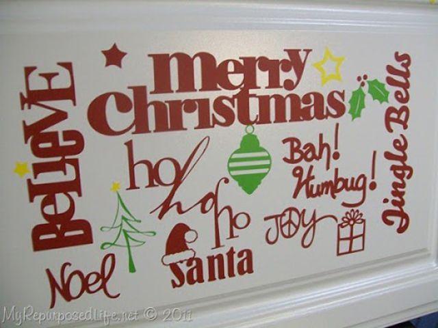 christmas vinyl stickers