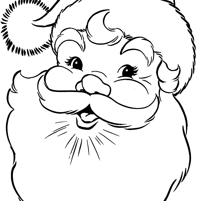picture of a santa coloring page