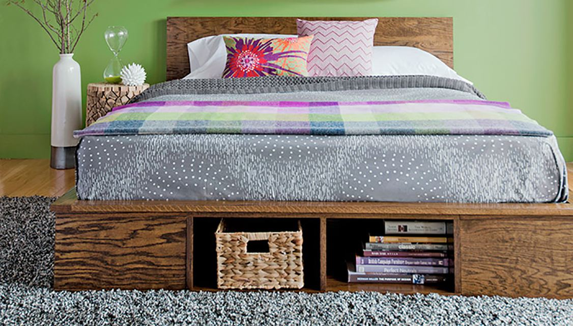Make a platform bed for a small bedroom