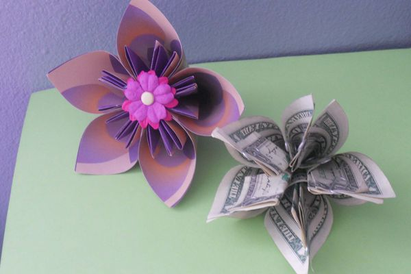 Money Origami Kusudama Flower