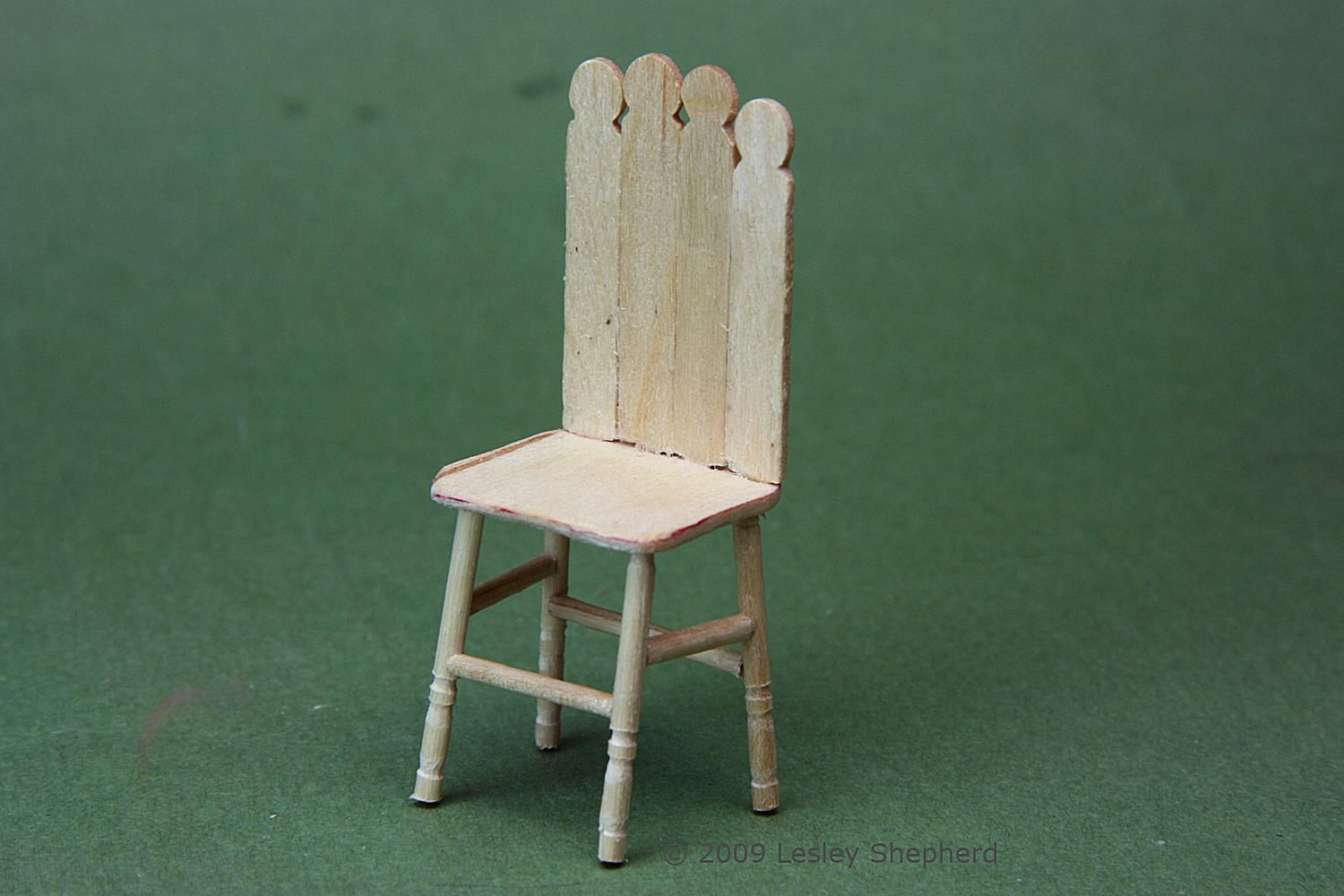 Doll House Child S Chair From Toothpicks