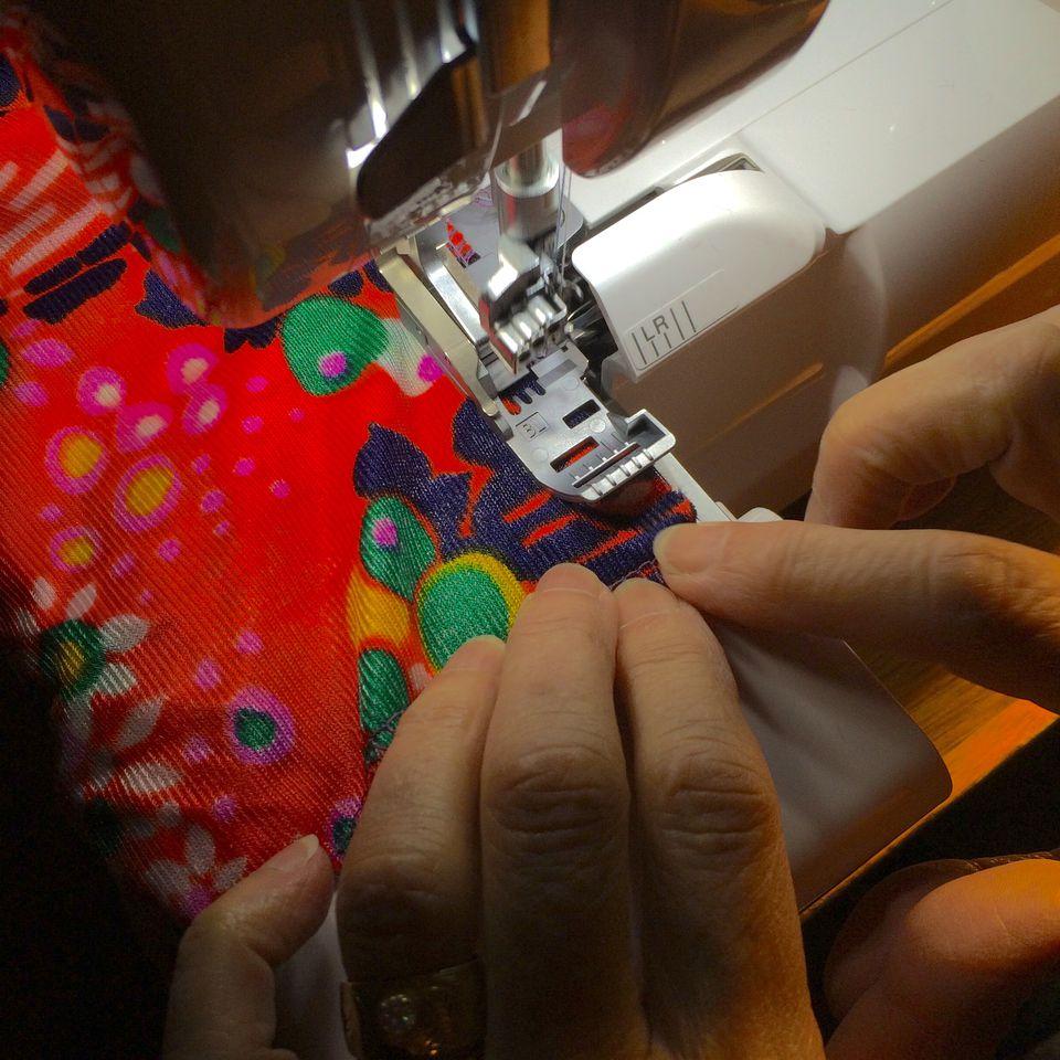 Serger stitching