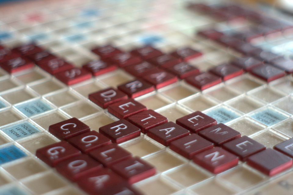 A scrabble game